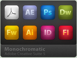 Adobe CS5 MonoChromatic Icons by benbreckler