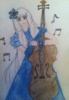 Music of the Night: Sara and her Cello by SaraAwayuki