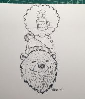 Novembear 05: Coffee Bear by nickv47