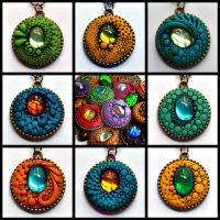 Dragon Pendants New Group by MandarinMoon