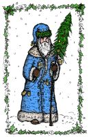 Father Christmas -traditional by billiambabble