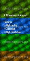 3d Bamboo Photoshop brush Freebie by nishagandhi