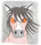 Evil Horse Stare, 2009 by LordDominic