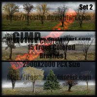 Tree Brush Set 2 GIMP by FrostBo