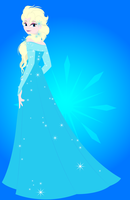 Elsa the Snow Queen (Third Drawing) by Alex2424121