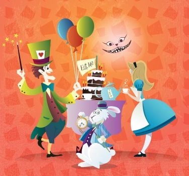 Tea Party in Wonderland by Coolgraphic