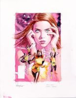 Jean Grey Cover Painted Prelim by mikemayhew