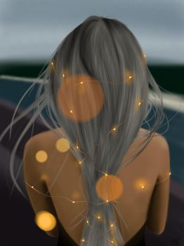 Fairy light photography speedpaint by Laanuei