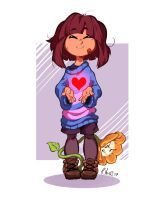 Frisk n' Flowey by ParaParano
