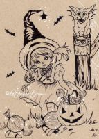 Spookylicious Candy Inktober2016 by Katerina-Art