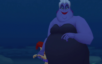 Ursula Brings Ariel close to her by Arielfan90