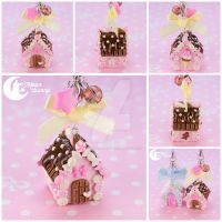 Candy house Charm (chocolate) by CuteMoonbunny