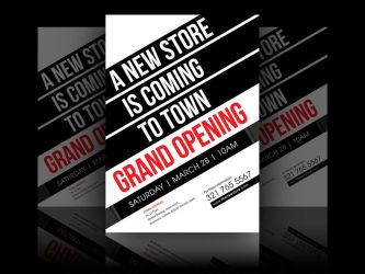 new store grand opening flyer by soulmemoria on deviantart