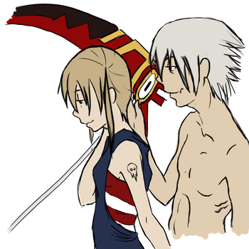 Maka and Soul by h4e