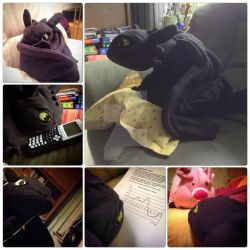 MY Homemade Toothless plush by NickTheDragonTrainer
