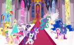 Rosalina at Canterlot Castle by user15432
