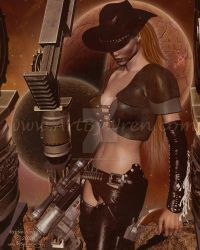 Space Cowgirl by WrenStormbringer
