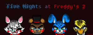 Five Nights at Freddy's 2 Characters by TheAnthroPony