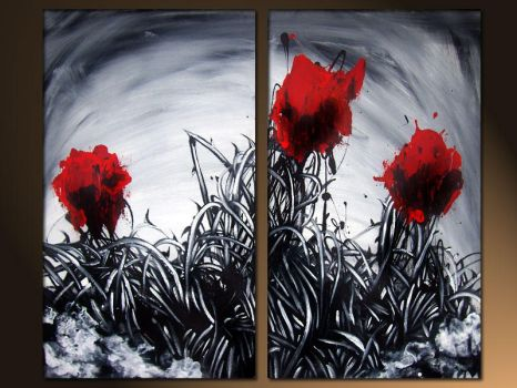 red roses by murrayjenkins