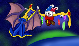 Meta Knight Vs Marx by StandlessFulla