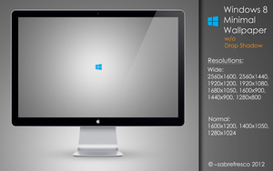 Windows 8 Minimal Wallpaper w/o Drop Shadow by sabrefresco