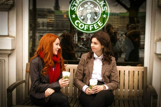 Fem!Doctor and Amy Pond (2) by AnnaPandorica