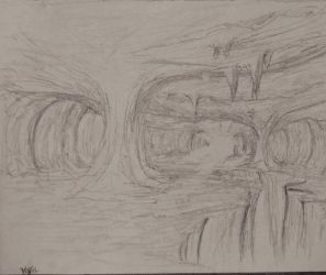 Sketch: The pillars of the Cavern by TylersArtShack