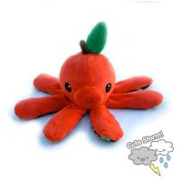 Red Apple Octopus Plush by The-Cute-Storm