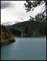 Deception Pass Bridge far by YourFavoriteDRUG