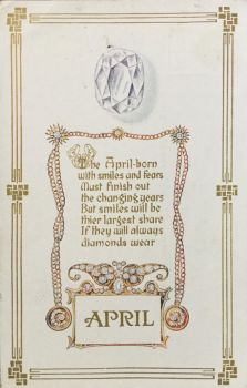 Elegant Birthstones - April Diamond by Yesterdays-Paper