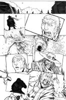 The Last Sheriff - Issue 3 Page 16 Pencils by RecklessHero