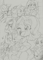 Shadow and Maria Robotnik Doodles by Narcotize-Nagini