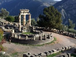Delphi, Tholos at The Sanctuary of Athena by RichardEly
