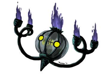 Fire it up collab: Chandelure by DragonchildX