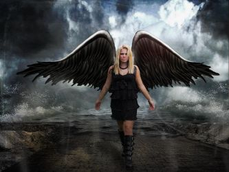 Angel on the mean streets by PattiPix