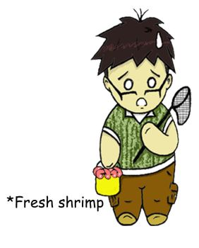 The fresh shrimps and Me by Misocute101