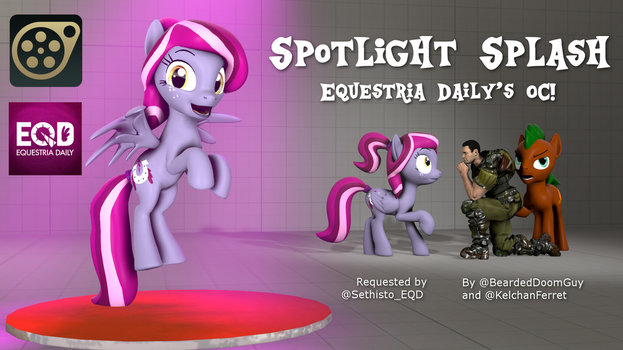 Spotlight Splash [SFM Download] by KelchanFerret