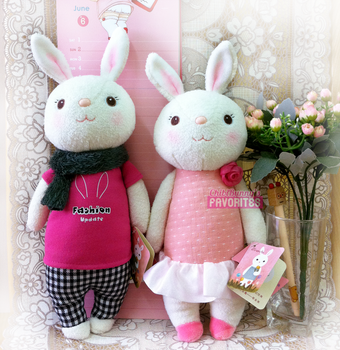 Cute bunny plushies by tho-be