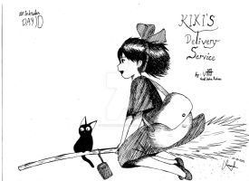 Inktober Day 10 - Kiki's Delivery Service! by Verrell1108
