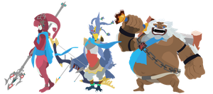 Champions of Hyrule - Breath of the Wild Vectors by firedragonmatty