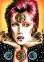 David Bowie - Ziggy Stardust by vvveverka