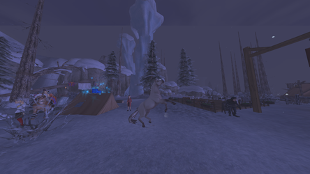 Wild Horse Invades the Snow Town by WickedSorceressCia