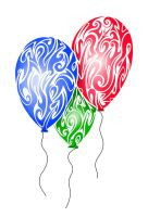 Tribal Balloons by Dessins-Fantastiques