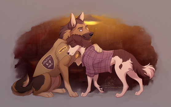 AT - Hopper and Eleven by Mistrel-Fox