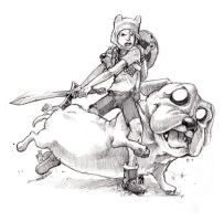 Commission: Finn and Jake fer realz by The-Z