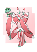 Pokemon : Lurantis and Fomantis by MarioK9