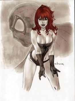 eBas Mary Jane  copic commission  by ebas
