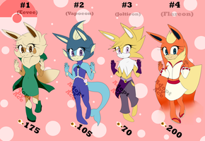 Eeveelution Mobian Adopts - #1 - CLOSED by AnimalCreation