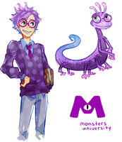 Monster's University - Randall Gijinka by aryllins