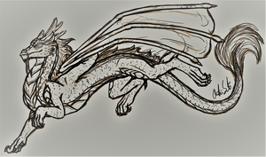 Male Koanan Dragon by InkRose98